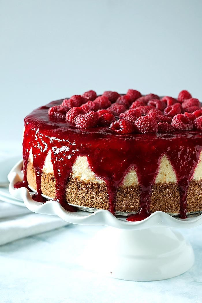 Lemon Cheesecake Tart with Raspberries Recipe
