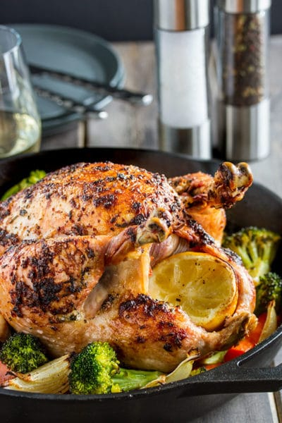 Easy Roast Chicken with Lemon, Garlic and Herbs