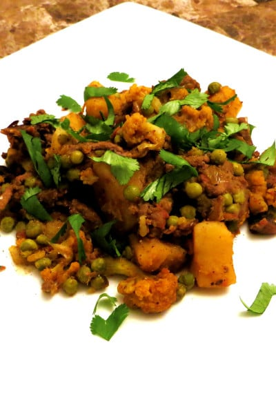 Sweet Potato Aloo Gobi with Ground Beef