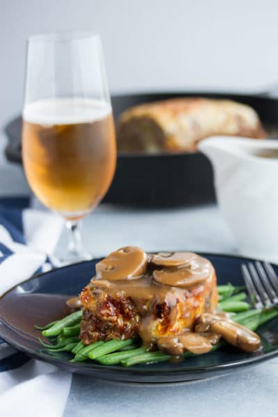 Classic Meatloaf Recipe with Mushroom Gravy ~ Total Comfort Food