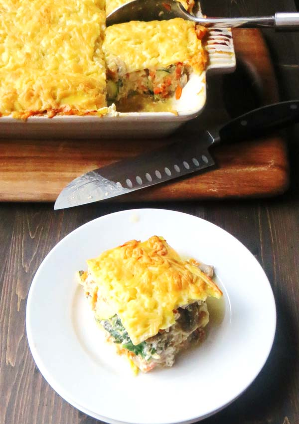 Seafood Vegetable Lasagna