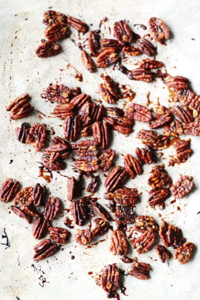 Easy Maple Roasted Pecans