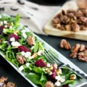 Pickled Beet Salad Recipe with Goat Cheese & Maple Roasted Pecans