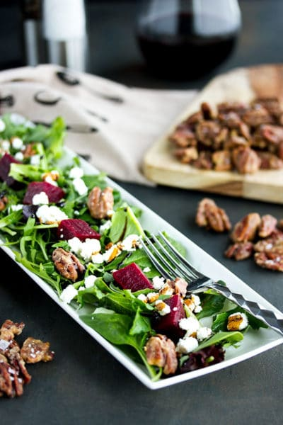The Best Pickled Beet Salad Recipe (with Goat Cheese & Maple Roasted Pecans)