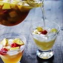 Pineapple, Raspberry and Peach Sangria Blanca