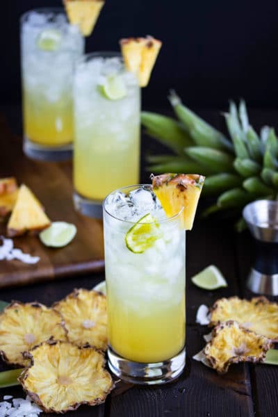 Pineapple & Coconut Rum Drinks