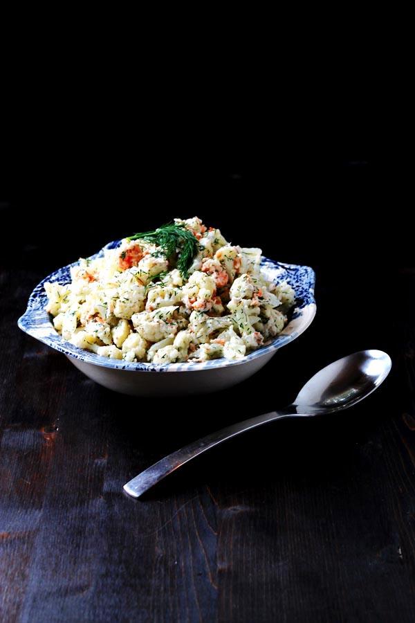 Cauliflower and Shrimp Salad