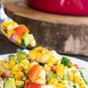 Summer Corn Salad Recipe with Cucumber, Peppers and Feta