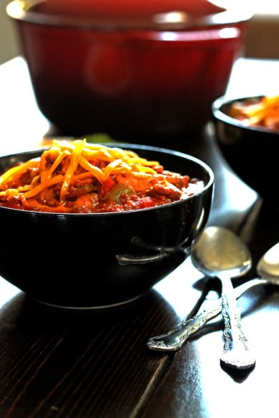 Meaty Beef and Pork Chili with 3 Beans
