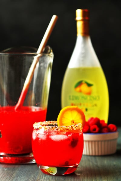 Limoncello Cocktail with Raspberry
