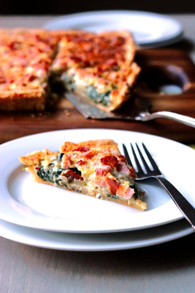 Italian Ham and Spinach Savory Tart