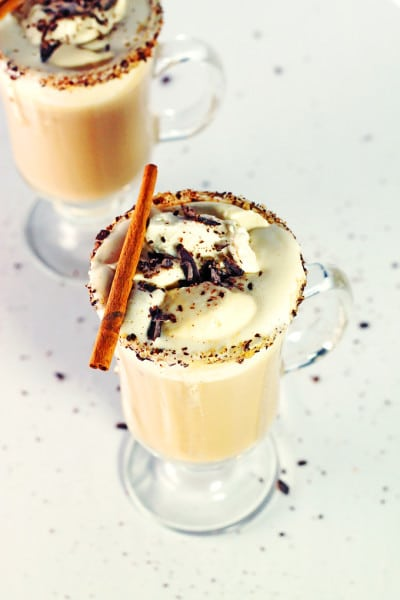 Vanilla Cinnamon and Frangelico Coffee with Caramel Whipped Cream