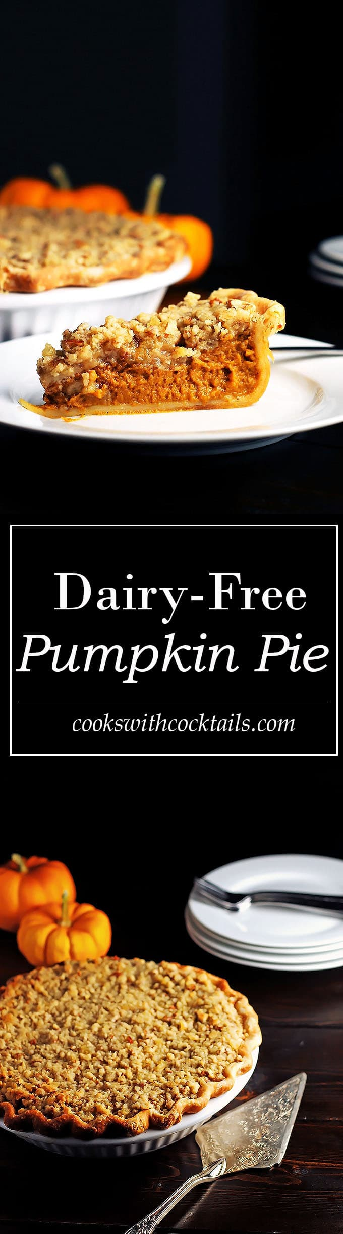 Dairy Free Pumpkin Pie with Streusel Topping
