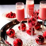 Sparkling Wine with Raspberry Cream Granita
