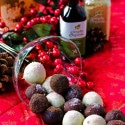 Coffee and Raspberry Truffles