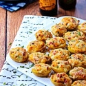 Mini Twice-Baked Potatoes with Farmer Sausage, Sundried Tomato and Gruyere