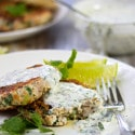 Cilantro Turkey Burgers with Creamy Cilantro Lime Sauce