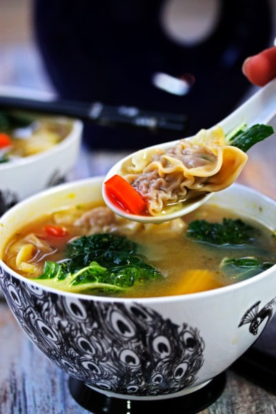 Wor Wonton Soup Recipe with Homemade Wontons