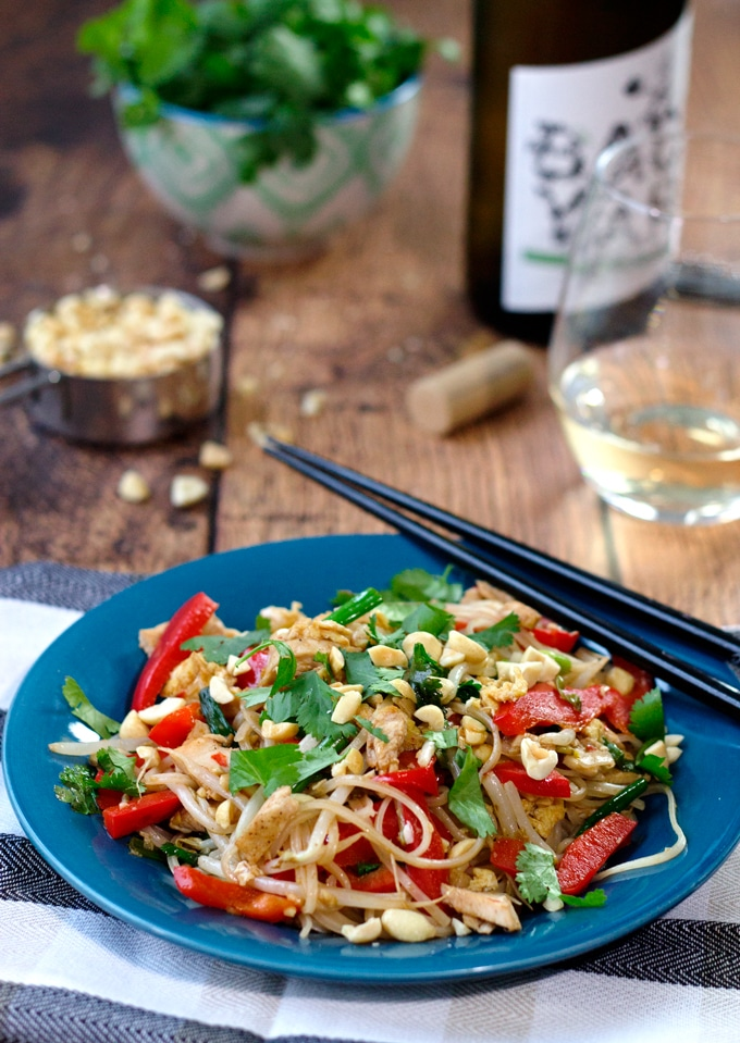 Chicken Pad Thai with Tamarind Sauce ~ Easy and Better than Takeout