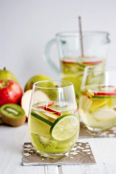 Green Apple Sangria with Kiwi and Pear ~ a St Patrick's Day Drink