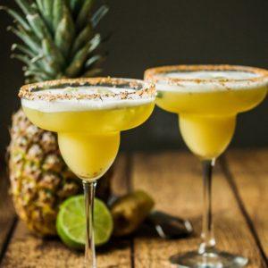 Pineapple Ginger & Basil Margarita Shaken with Egg Whites