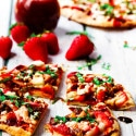 Strawberry Pizza with Fresh Mozzarella, Basil, & Balsamic Reduction