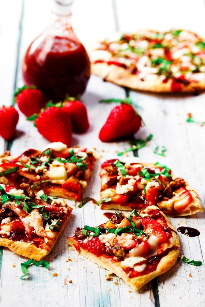 Strawberry Pizza With Fresh Mozzarella Basil Amp Balsamic