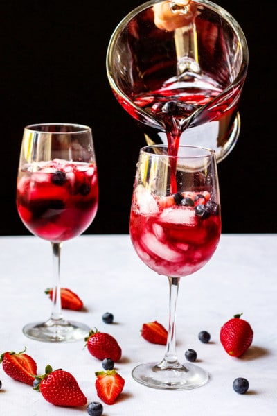 Strawberry Red Wine Sangria