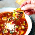Gazpacho with Jalapeno & Feta