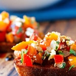 Tomato, Pepper & Basil Bruschetta