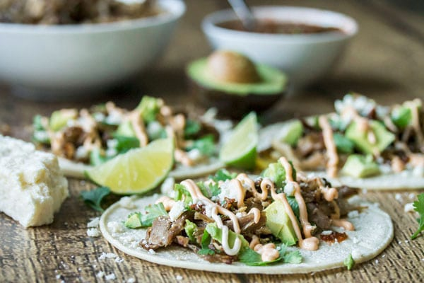 carnitas tacos ready to eat