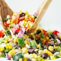 Corn Salad with Peppers & Black Beans