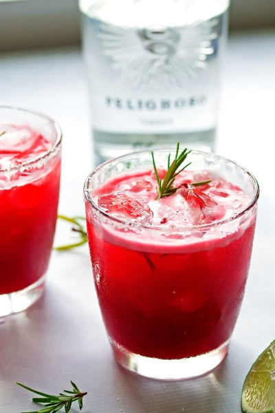 Blackberry Margarita with Rosemary