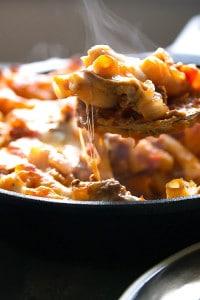 Beef, Mushroom and Jalapeno Pasta Bake