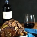 Rib Eye Roast and Rioja Wine