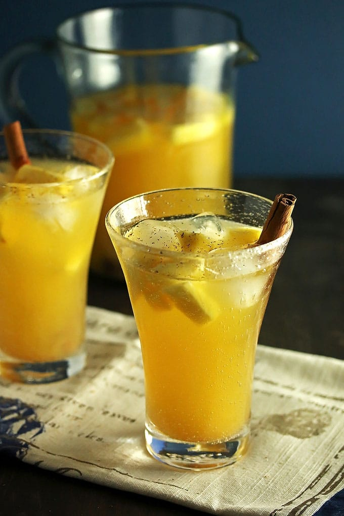 Pineapple Sangria with Cinnamon ~ a Fall Sangria