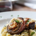 An Italian Holiday Meal – Artichoke & Lemon Risotto with Flank Steak Pinwheels and Chocolate Ravioli for Dessert