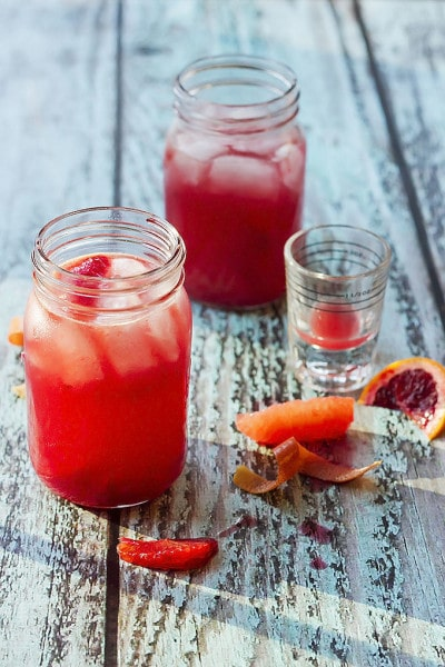 Blood Orange & Grapefruit Beer Cocktail