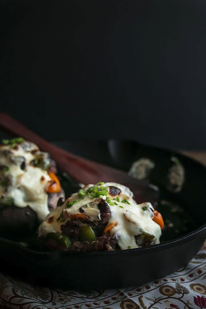 Cheesesteak Stuffed Portabello Mushrooms