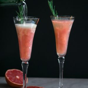 Grapefruit Bellini with Rosemary