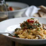 Sausage and Spinach Pasta with Wine