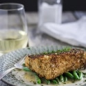 Pan Fried Halibut with Panko Crust and Lemon Burre Blanc