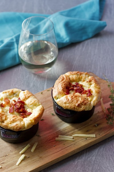 Potato Soufflé with Roasted Garlic, Gruyere & Herbs