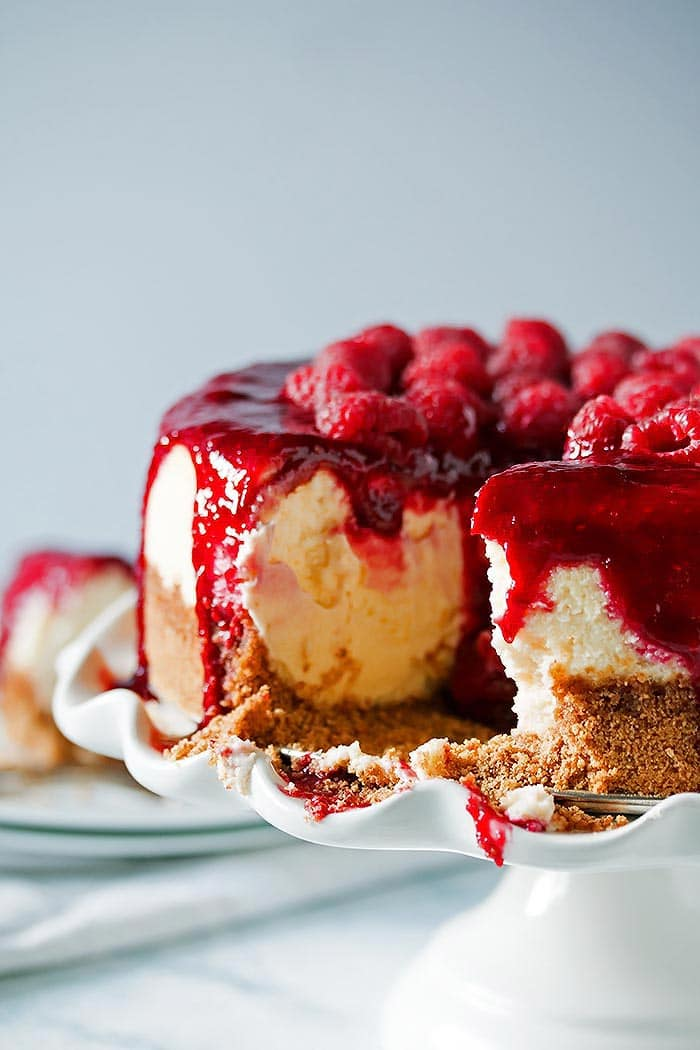 Boozy Raspberry Lemon Souffle Cheesecake (1)