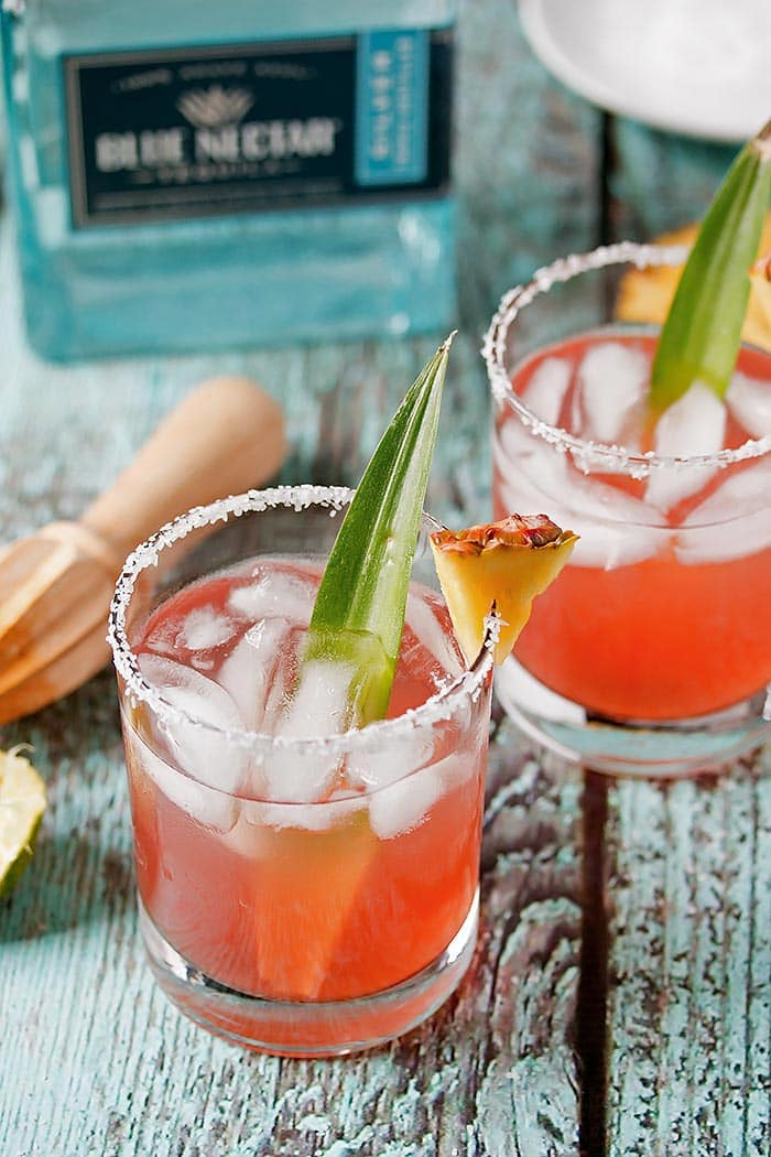 Hibiscus Pineapple Margarita