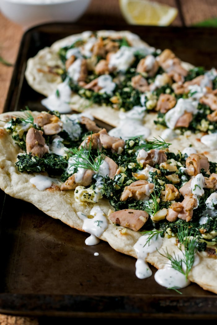 Greek Flatbread Recipe with Homemade Tzatziki