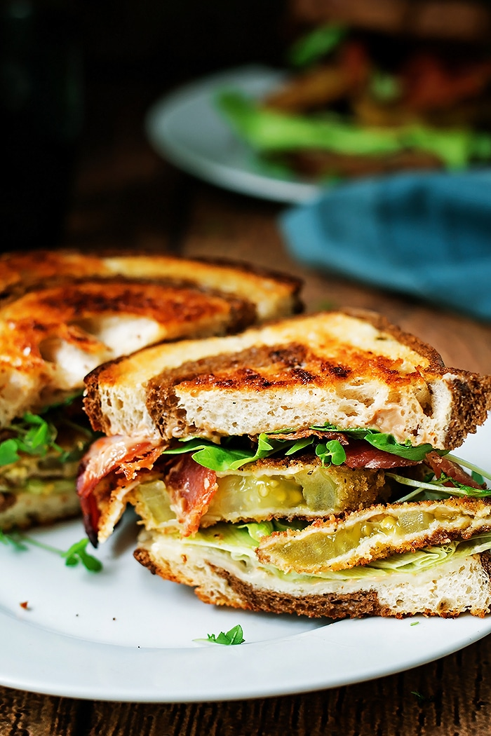 Fried Green Tomato BLT - Cooks With Cocktails