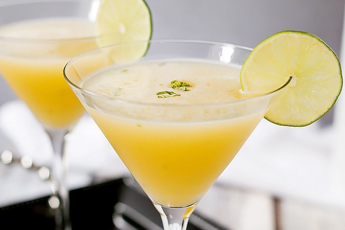 Buy Here Pay Here Lots >> Passion Fruit Martini with Honey & Basil ~ Cooks With Cocktails