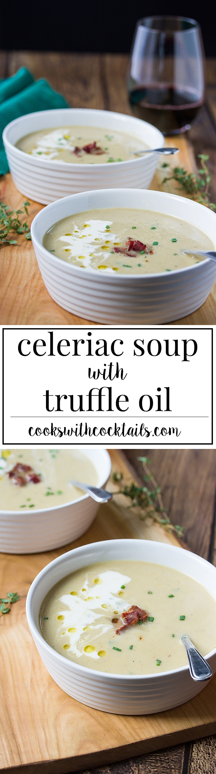 Easy and Healthy Celeriac Soup with Gruyere & Truffle Oil