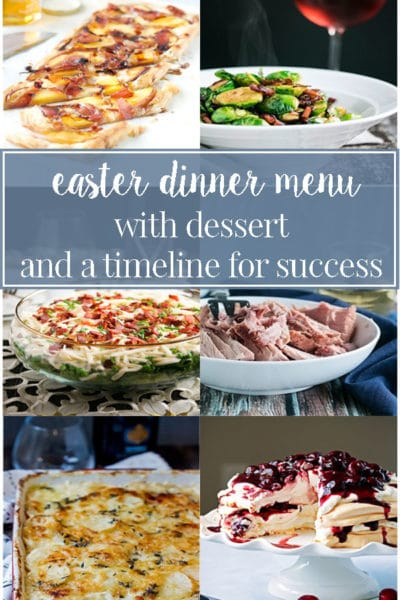 A Ham and Potatoes Easter Dinner Menu with Dessert and a Timeline for Success
